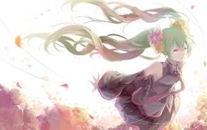 twintails, anime girls, long hair, Vocaloid, Hatsune Miku