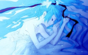 anime girls, Vocaloid, Hatsune Miku, closed eyes, sleeping, anime