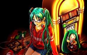 anime girls, jukebox, anime, Hatsune Miku, Vocaloid