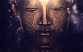 purple, Buddhism, macro, depth of field, gold, photography