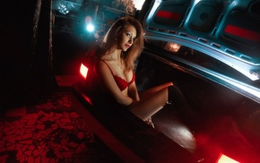 car, model, girl, vehicle