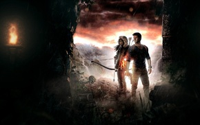 artwork, video games, Nathan Drake, uncharted, Tomb Raider, Lara Croft