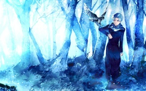 artwork, birds, fantasy art, anime