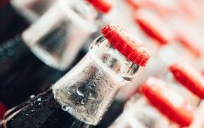 blurred, bottles, macro, Coca, Cola, depth of field