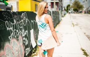 model, blonde, urban, street, girl outdoors, girl