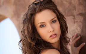 long hair, Malena Morgan, girl, eyes, lips