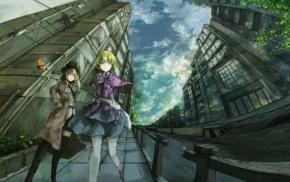 Usami Renko, anime, Touhou, Maribel Han, building, anime girls