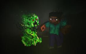 creeper, Steve, Minecraft