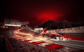car, race tracks, vehicle, artwork, Formula 1, long exposure