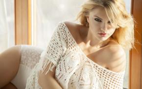 sensual gaze, Polish, Carla Sonre, girl, blonde, looking at viewer