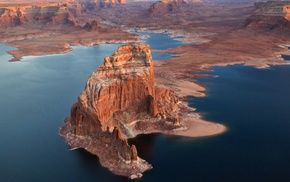 nature, rock, Utah, Arizona, desert, lake