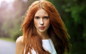 Ebba Zingmark, redhead, girl, looking at viewer