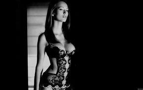 Zsuzsanna Ripli, model, monochrome, brunette, girl, Ripli Zsuzsanna
