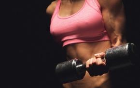 girl, sport, sports bra, fitness model, model, weightlifting