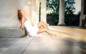 sunlight, girl, model