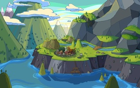 landscape, town, Adventure Time