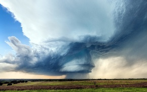 storm, clouds, nature, landscape