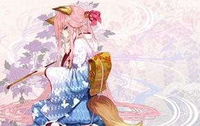 animal ears, kimono, kitsunemimi, anime girls, Japanese clothes, yukata