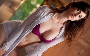 boobs, pierced navel, pornstar, model, girl, Karina White