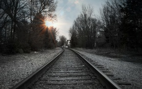 Sun, railway