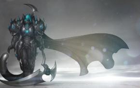 furry, sythe, gross, fantasy armor, Anthro, fantasy weapon