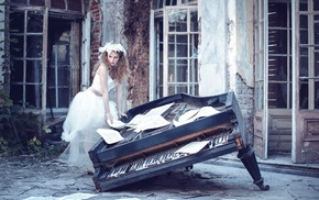 Poland, piano, model, girl