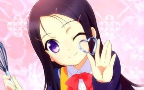 violet eyes, anime girls, looking at viewer, anime, Charlotte anime, Otosaka Ayumi