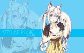 kitsunemimi, silver hair, anime, original characters, anime girls, animal ears