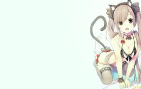 original characters, anime girls, cat girl, anime, animal ears, lingerie