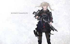 gun, weapon, rifles, original characters, anime, anime girls