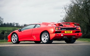 Lamborghini Diablo Sv, vehicle, Lamborghini, car, red cars