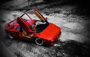 car, vehicle, Lamborghini Diablo, red cars, Diablo