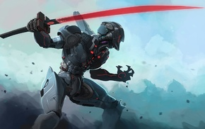 futuristic, sword, artwork, science fiction