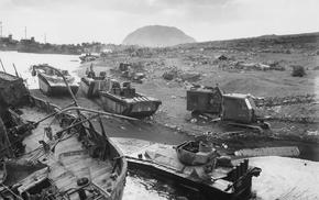 monochrome, World War II, Iwo Jima