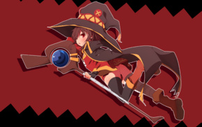 witch, hat, anime girls, Megumin, Kono Subarashii Sekai ni Shukufuku wo, anime