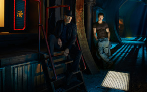Thomas Jane, Jim Holden, Joe Miller The Expanse, science fiction, Steven Strait, the expanse