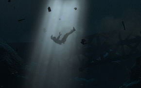 Rise of the Tomb Raider, Lara Croft, underwater, Square Enix
