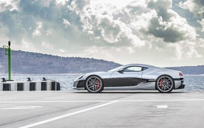 concept_one, vehicle, car, Rimac, silver cars