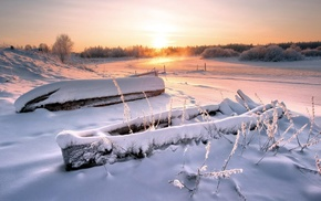 snow, landscape, winter