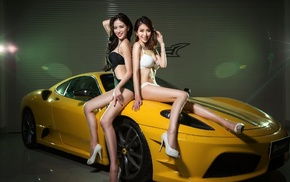 model, Asian, car, girl, vehicle