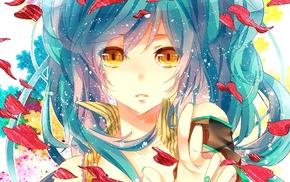 anime, long hair, Hatsune Miku, Vocaloid, anime girls, open mouth