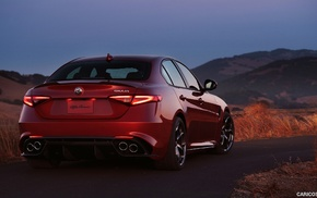 car, Alfa Romeo Giulia, italian cars, Alfa Romeo, red cars