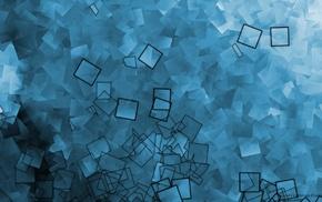 square, Jason Freedman, abstract, blue, digital art