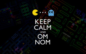Keep Calm and..., ghosts, retro games, video games, Pac, Man