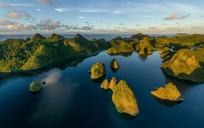 aerial view, tropical, Eden, Indonesia, sea, island