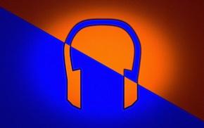 headphones, vector, music