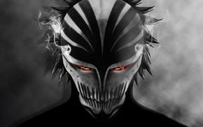 Arrancar, bankai, mask, Kurosaki Ichigo, anime, smoke