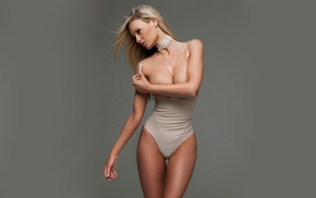 strategic covering, body lingerie, stripping, leotard, girl, natural boobs