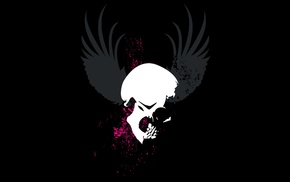 grunge, skull, black background