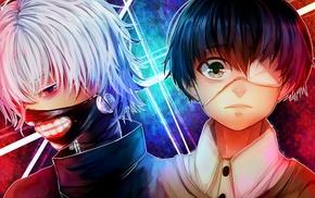 Kaneki Ken, eye patch, Tokyo Ghoul, anime boys, mask
